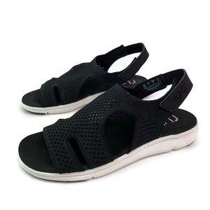 Ryka MICHA Black Soft Stretch Sport Sandal New